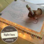 diy tracing light box for kids