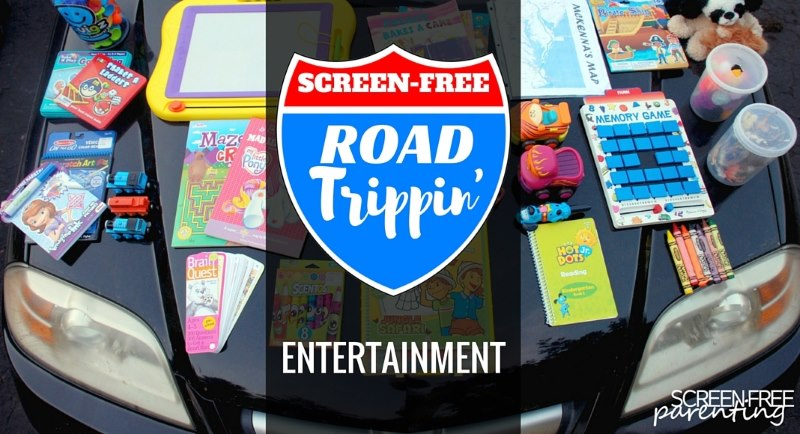 screen free activities in the car