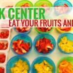 snack center for kids encouraging independance