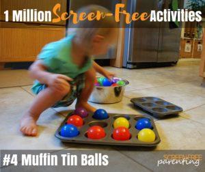 1 Million screen free activities 4 muffin tin balls
