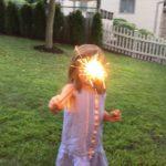 screen-free activities sparklers