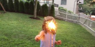 screen-free activities sparklers